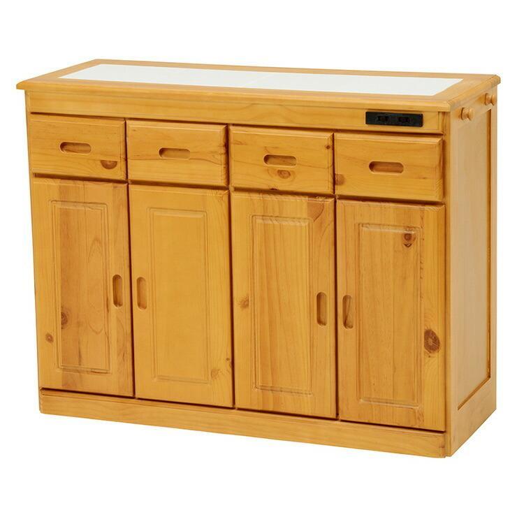 萩原 キッチンカウンター MUD-6522NA ※アウトレット品 収納 代引不可 コンセント付き キッチン 無料