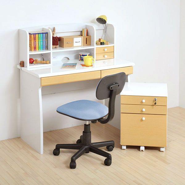 鏡面ジュニアデスクシリーズ デスク4点セット(チェアカラー:ブルー)(fb-013set) デスク4点セット(チェアカラー:ブルー)(fb-013set) 学習机 机 チェスト 椅子 セット家具