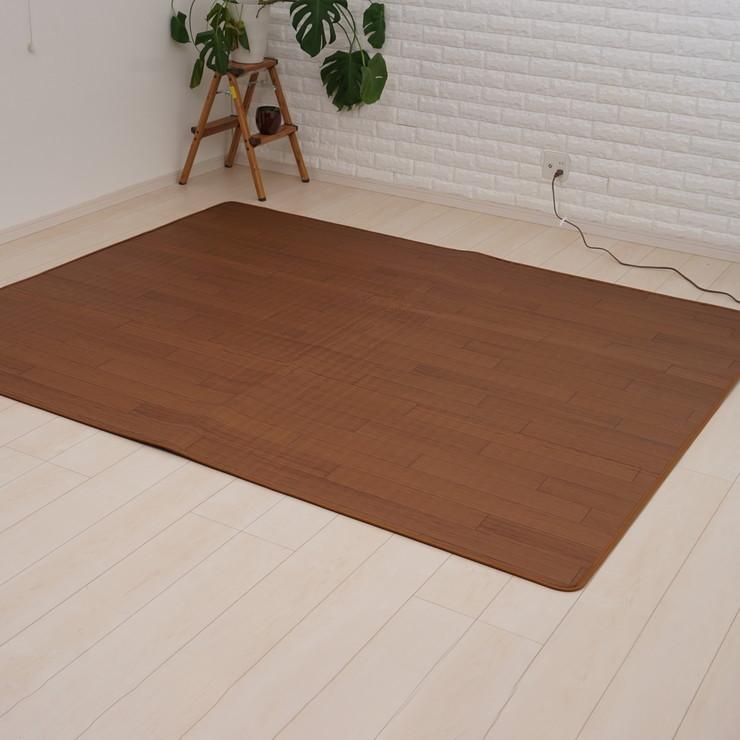 木目調 ホットカーペット 2畳用 在庫一掃売り切りセール 176×176cm フローリング調カーペット 代引不可 木目調のデザイン 表面防水加工 カーペット 入手困難