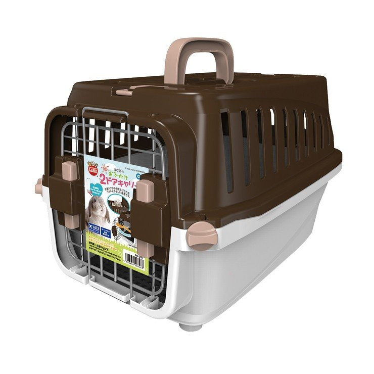 マルカン 贈答 海外並行輸入正規品 うさぎのおでかけ2ドアキャリー ペット用品 小動物用品