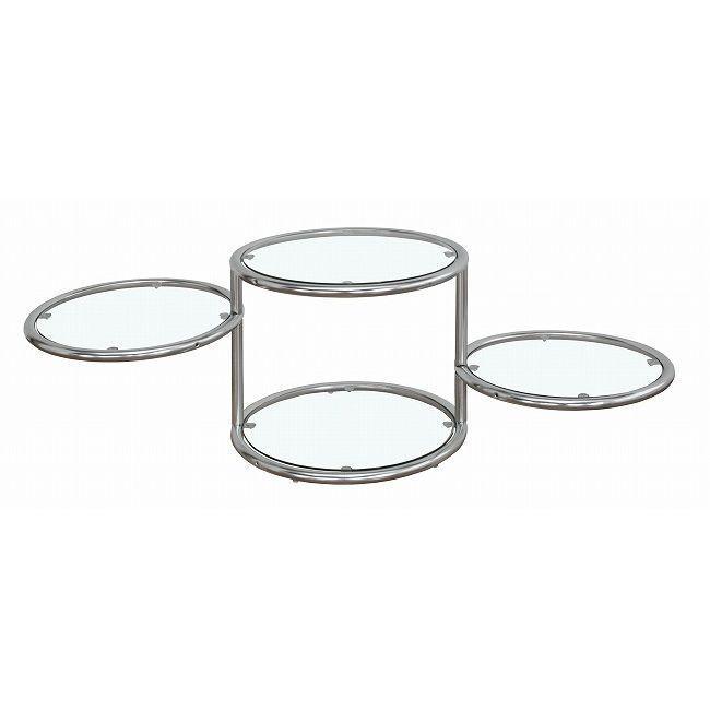 4段ラウンドガラステーブル サークルテーブル4段 春の新作 ガラスラック 丸 ラウンドテーブルテーブル 代引不可 ディスプレイ 大人気