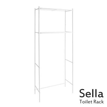 トイレ上ラック 直送商品 Sella セラ 2段棚 トイレラック 特別セール品 トイレ収納 整理棚 トイレ 代引不可 ラック