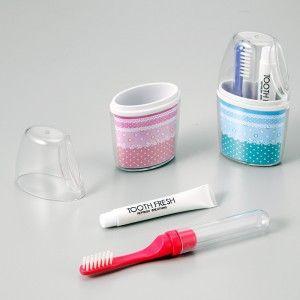 トライ·ミニカプセル 歯磨きセット (日本製) トライ·ミニカプセル ピンク/240点入り(代引き不可)