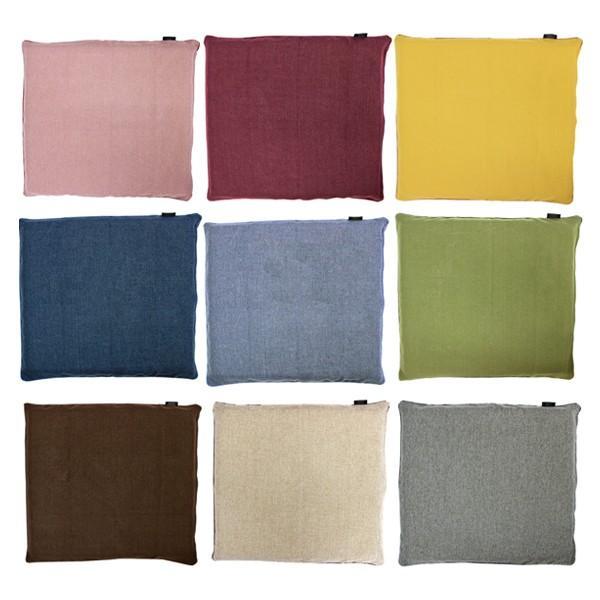 9色から選べるざっくり編みのナチュラルテイストな座布団カバー 長方形 55×59cm 無地 卸直営 座布団 カバー おしゃれ セール 登場から人気沸騰 ファスナー式 シンプル