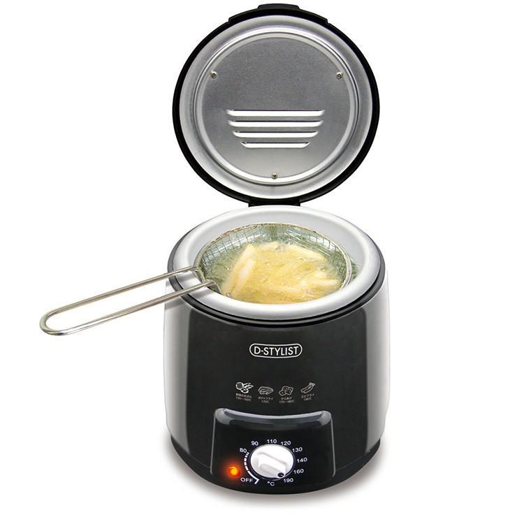 おひとりフライヤー 0.6L 卓上 コンパクト 串揚げ 揚げ器 卓上調理器 KDFY-06AB 電気調理器 在庫あり 電気揚げ物機 値引き 一人暮らし 天ぷら鍋