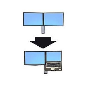 ERGOTRON WorkFit-A、C、S用デュアルからLCD & Laptop ホワイト 代引不可