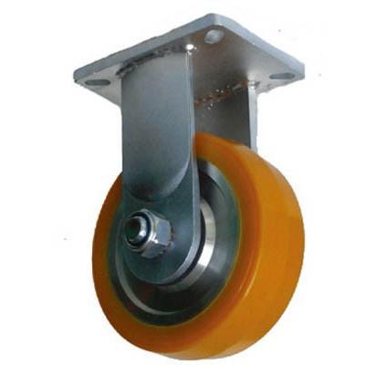 ヨドノ 超重量用高硬度ウレタン固定車 1500kg用 HDUK150 キャスター·重荷重用キャスター