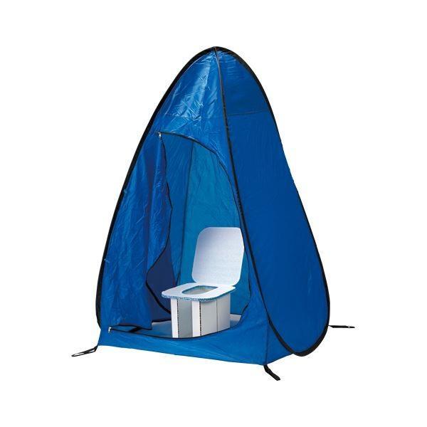 (業務用セット) ホリアキ インスタントイレ 快速快適テント 快速快適テント青 1台入 〔×2セット〕