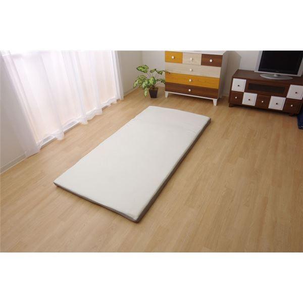 敷き布団 セミシングル 寝具 洗える 無地 高反発『V-lap プレミアム』 約80×200cm
