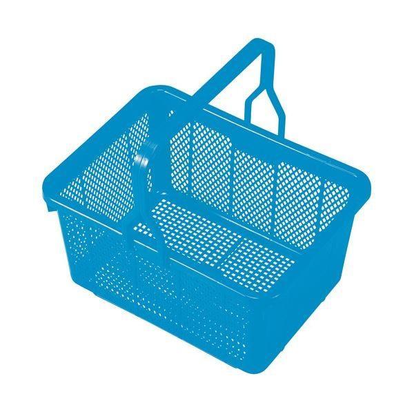 (まとめ) 積水テクノ成型 スクールバスケット ブルー〔×10セット〕