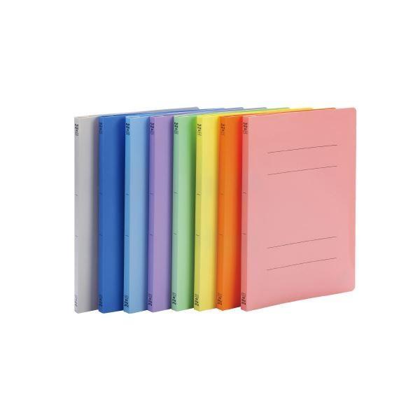 (まとめ)ビュートン フラットファイルPP A4S ピンク FF-A4S-P〔×200セット〕