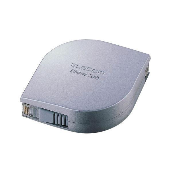 (まとめ) エレコム 携帯用ウルトラフラットLANケーブル シルバー 2m LD-MCTF/SV2 1個 〔×10セット〕