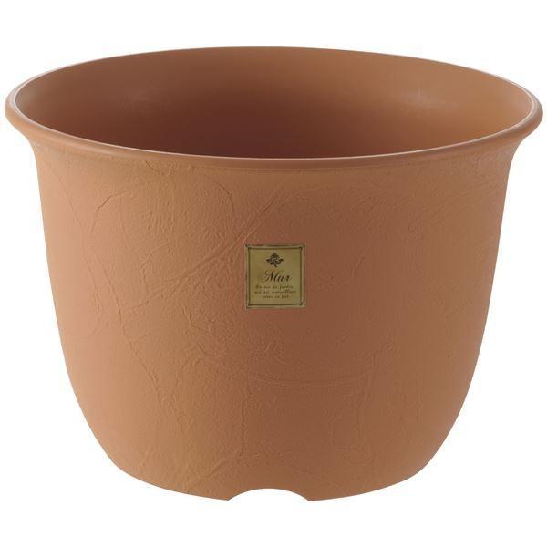 (まとめ) 植木鉢/ポット 〔10号 ブラウン〕 プラスチック製 ガーデニング用品 園芸 『ムール』 〔×20個セット〕