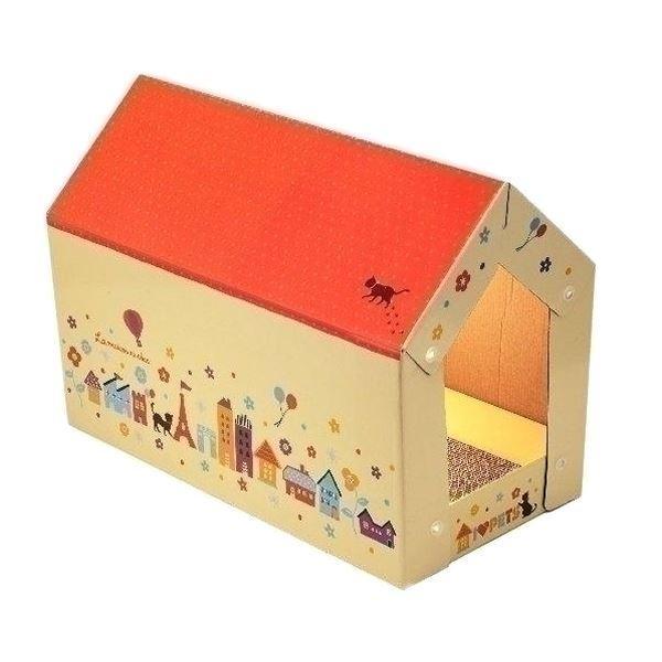(まとめ)ボンビ キャットスクラッチハウス (ペット用品) (×10セット)
