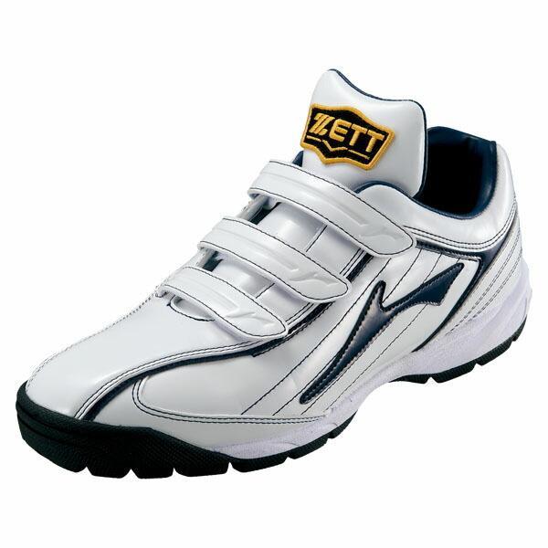 ZETT トレーニングシューズ ラフィエットRX BSR8256 ホワイト×ネイビー 1129 サイズ 23.5