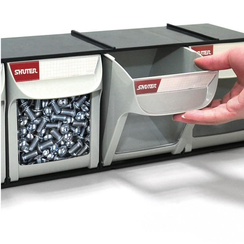 SHUTER シューター MS-25000 両面 キャビネット キャスター付き 部品収納|recoshop|02