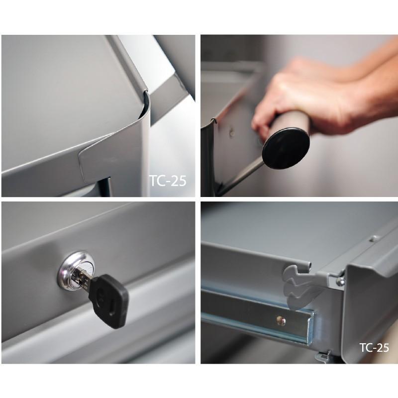 SHUTER シューター TC2-L25 スチール ツールワゴン カート|recoshop|02