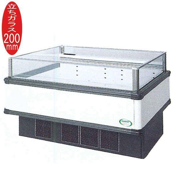 新品:福島工業(フクシマ) インバーター制御アイランドショーケース 冷蔵タイプ W1371+(64.5×2)×D900×H850(mm) IMC-55RWFTAX