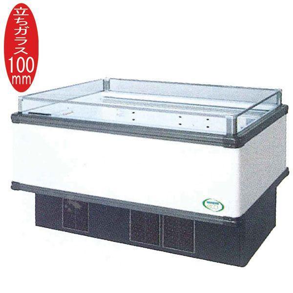新品:福島工業(フクシマ) インバーター制御アイランドショーケース 冷蔵タイプ W1371+(64.5×2)×D1100×H850(mm) IMX-55RGFSAX