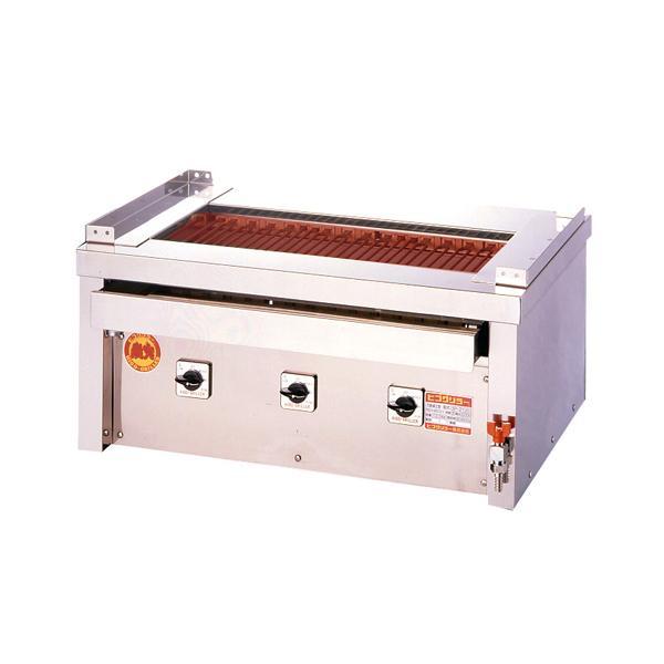 新品:ヒゴグリラー 電気式焼物器(グリラー) 万能タイプ卓上型 幅810×奥行550×高さ380(mm) 3P-212C
