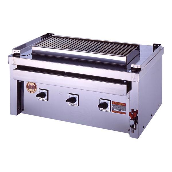 新品:ヒゴグリラー 電気式焼物器(グリラー) ステーキグリラー 幅1020×奥行600×高さ380(mm) 3P-221CS