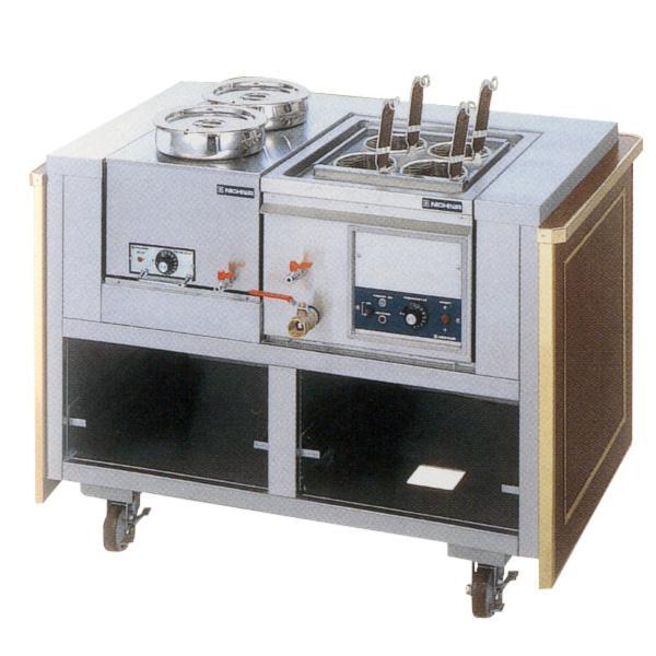 新品:ニチワ 電気麺サービスワゴン (テボ4つ) 1175×770×850 ENBW-450