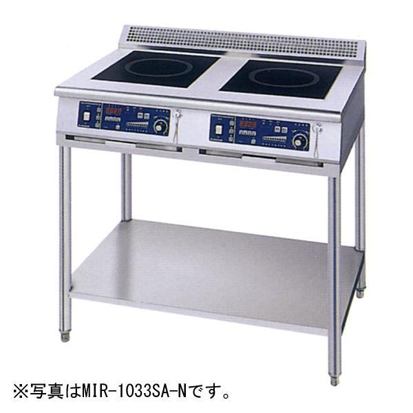 新品:ニチワ IHコンロ(電磁調理器) スタンドタイプ(2連) 900×750×800 MIR-1033SB-N