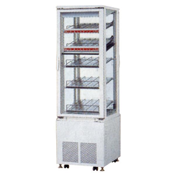 新品:サンデン タテ型4面ガラス冷蔵・温蔵ショーケース 500×600×1615 136リットル SPAS-H521XT