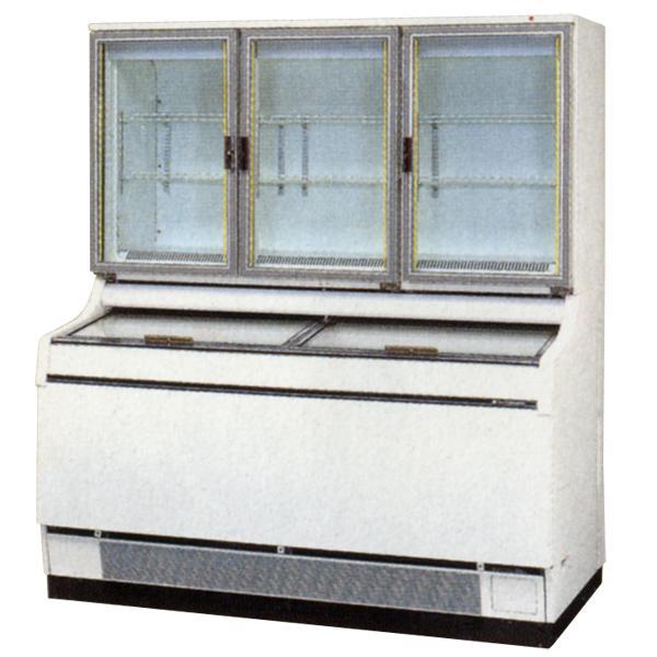 新品:サンデン 冷凍ショーケース(デュアルタイプ) 幅1500×奥行867×高さ1723(mm) 472リットル GSR-D1503ZC
