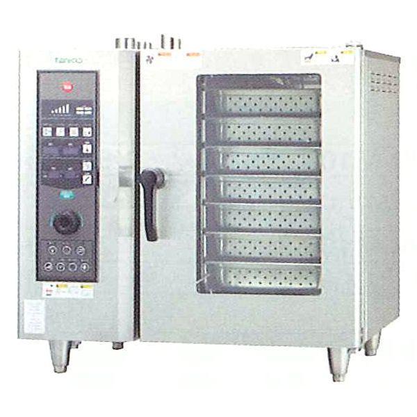 新品:タニコー ガス式 ベーシックスチームコンベクションオーブン 幅840×奥行730×高さ820(mm) 棚7段 TSCO-61GBCL