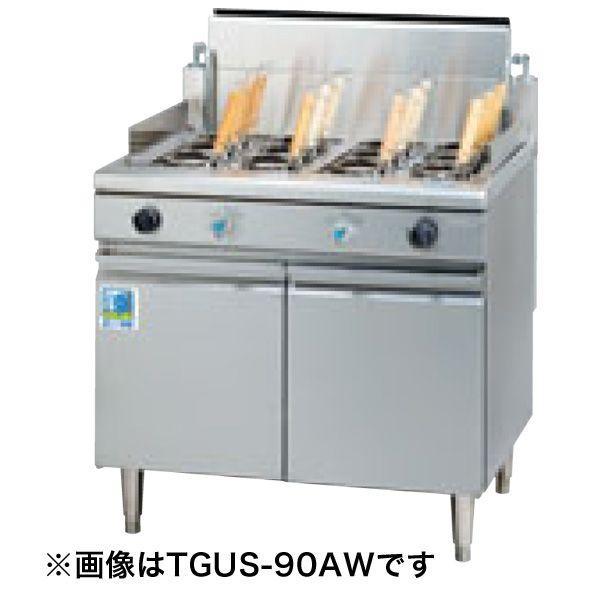 新品:タニコー 2槽式 角型ゆで麺器(フリザル8つ) TGUS-90W