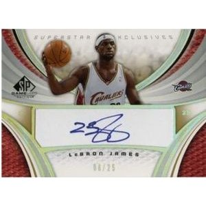 2005-06 UD SP Game Used Superstar Excrusive Autograph LeBron