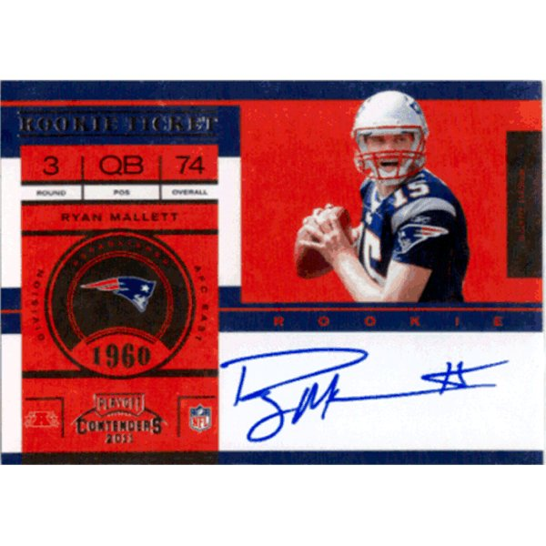 2011 Panini Contenders #203 RC Autograph SP Variation (No Logo) Ryan Mallett