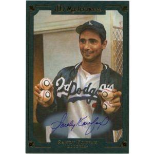 2007 5x7 Box Topper Autograph Sandy Koufax