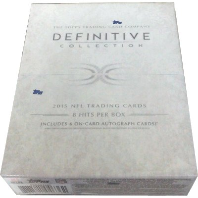 NFL 2015 Topps Definitive Collection ボックス Box