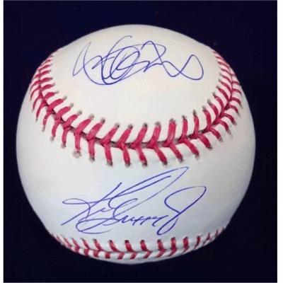 UDA Ichiro Suzuki/Ken Griffey Jr. Dual Autographed Baseball 8/20