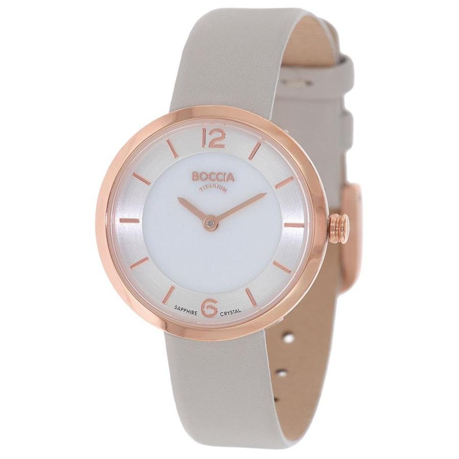 直送商品 Boccia Women's Digital Quartz Watch with Leather Strap 3266-02, 包や本舗吉野商店 a1245b8a