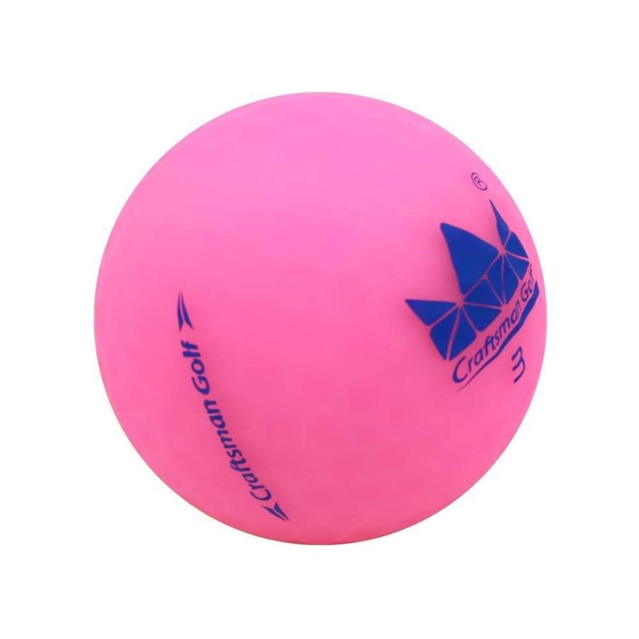 Craftsman ゴルフ クリスタルピンク 2個 マットゴルフボール 高性能ボール