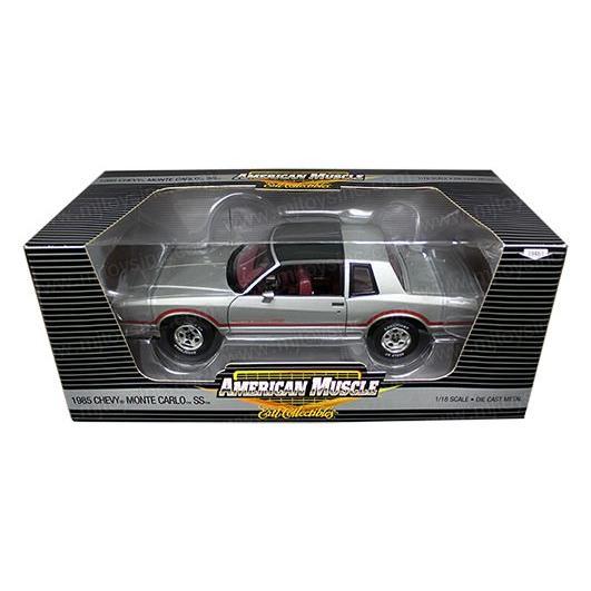 アメ車ミニカー アーテル 1985 シボレー モンテカルロ SS 1:18 シルバー