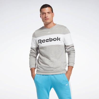 セール価格 返品可 リーボック公式 スウェット トレーナー Reebok ロゴ リニア クルー 最安値に挑戦 エッセンシャルズ トレーニング 期間限定
