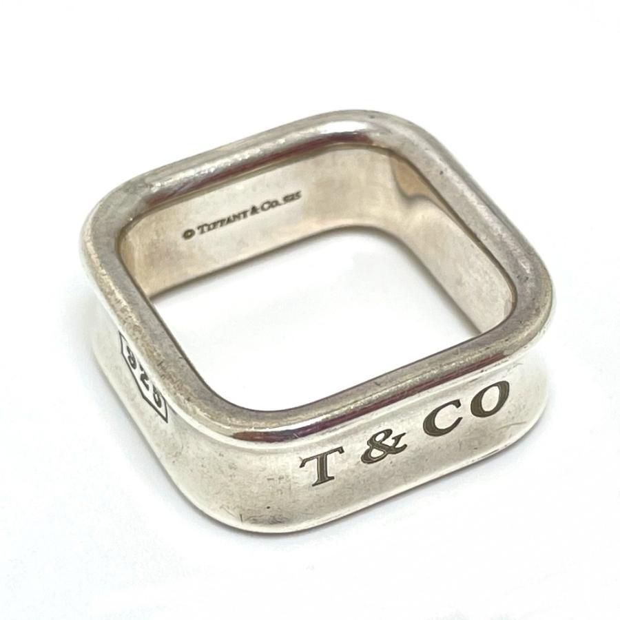 TIFFANY&Co. ティファニー スクエア リング 1837 リング・指輪 11.5号 シルバー ユニセックス 【中古】|reference|02