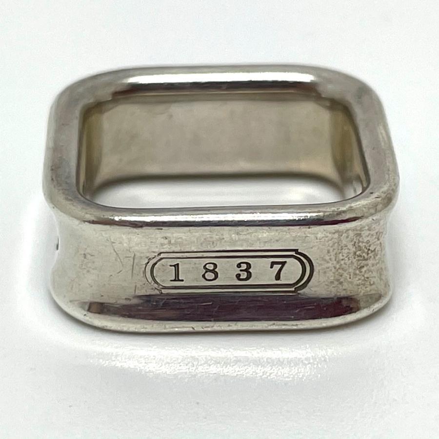TIFFANY&Co. ティファニー スクエア リング 1837 リング・指輪 11.5号 シルバー ユニセックス 【中古】|reference|04