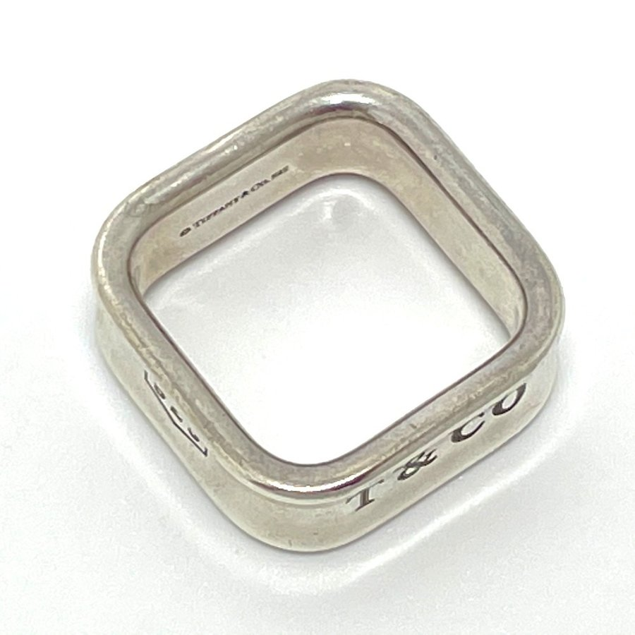 TIFFANY&Co. ティファニー スクエア リング 1837 リング・指輪 11.5号 シルバー ユニセックス 【中古】|reference|07