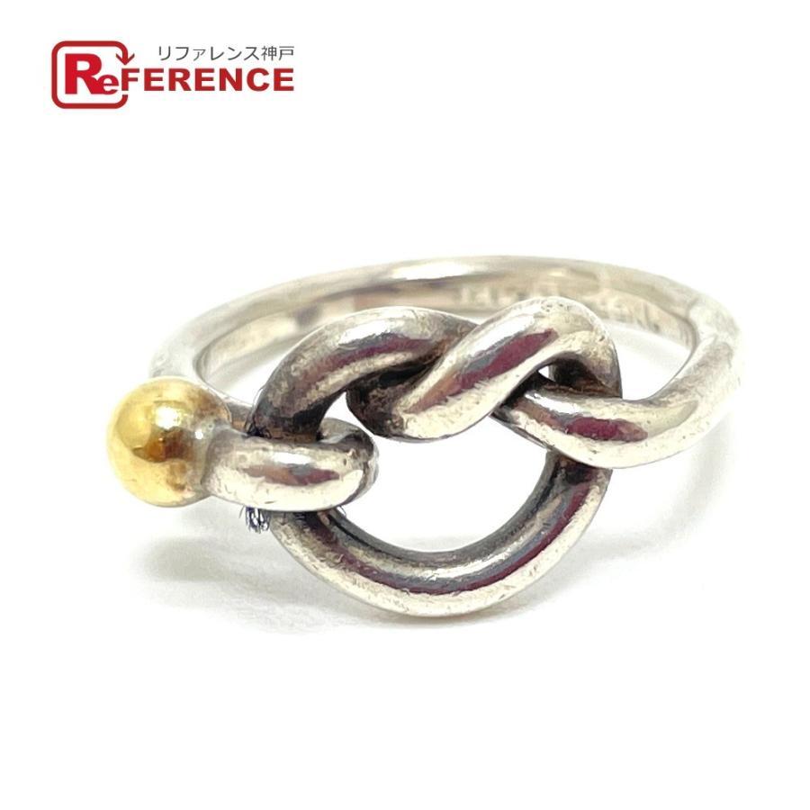 TIFFANY&Co. ティファニー フック&アイ ラブノット リング・指輪 10号 シルバー×ゴールド レディース 【中古】|reference