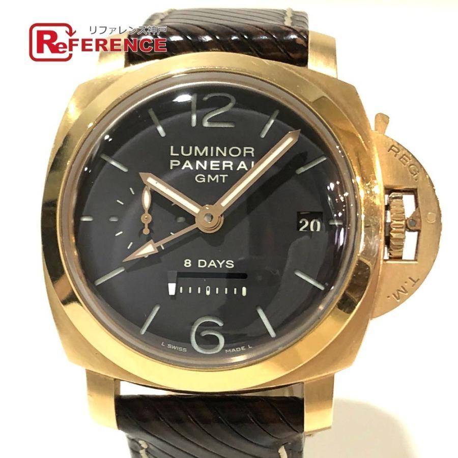 PANERAI パネライ PAM-00289 ルミノール1950 オロローザ エイトデイズGMT 腕時計 ゴールド メンズ 【中古】|reference