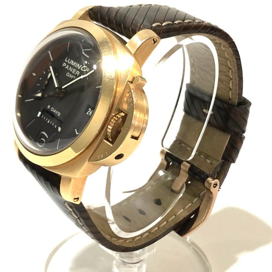 PANERAI パネライ PAM-00289 ルミノール1950 オロローザ エイトデイズGMT 腕時計 ゴールド メンズ 【中古】|reference|02