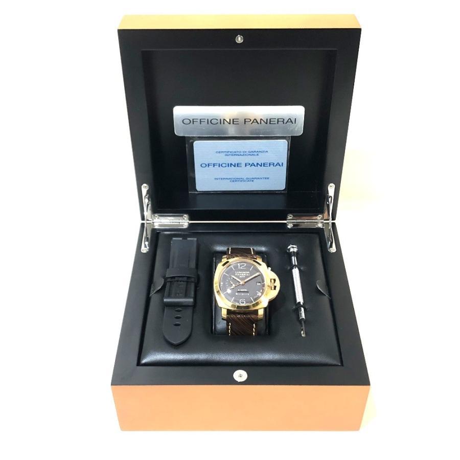 PANERAI パネライ PAM-00289 ルミノール1950 オロローザ エイトデイズGMT 腕時計 ゴールド メンズ 【中古】|reference|11