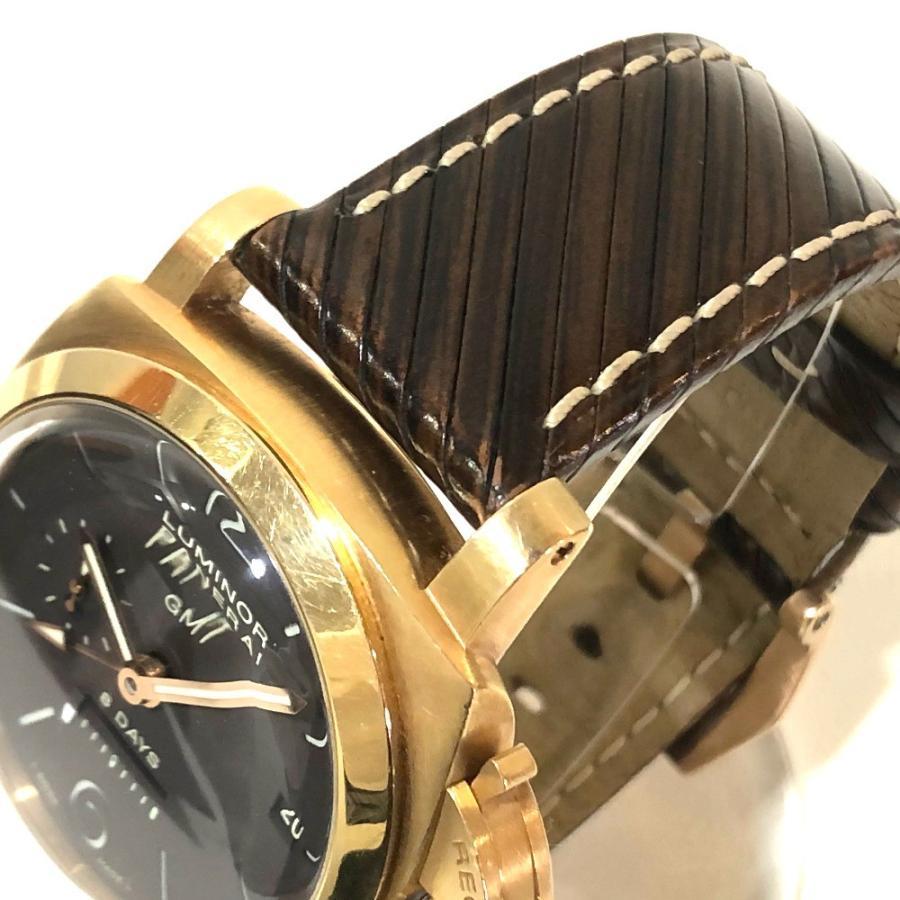 PANERAI パネライ PAM-00289 ルミノール1950 オロローザ エイトデイズGMT 腕時計 ゴールド メンズ 【中古】|reference|03