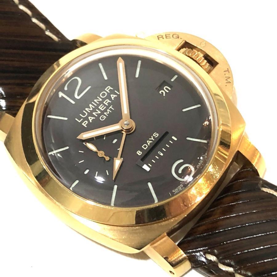 PANERAI パネライ PAM-00289 ルミノール1950 オロローザ エイトデイズGMT 腕時計 ゴールド メンズ 【中古】|reference|05