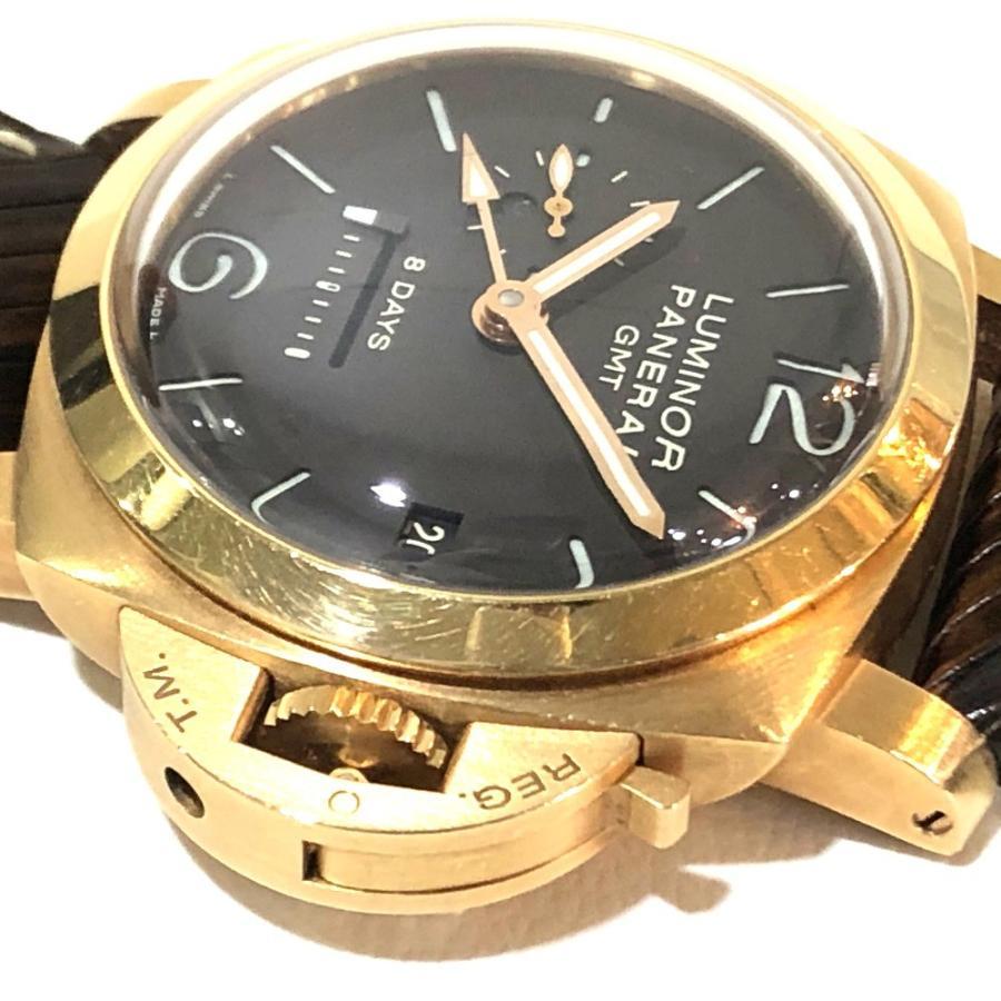 PANERAI パネライ PAM-00289 ルミノール1950 オロローザ エイトデイズGMT 腕時計 ゴールド メンズ 【中古】|reference|09